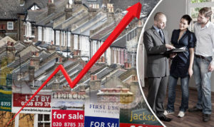 UK House prices soar