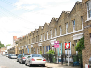 Terraced houses in Pages Walk, Bermondsey geograph-1405283-by-Stephen-Craven